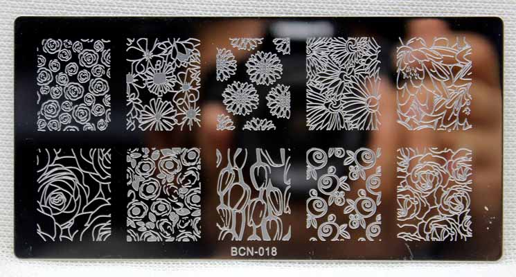 Fashion Rectangle Rose Flowers Lace Design Nail Print Stamp Plate Beauty Manicure Stencil DIY Polish Tool 1 PCS Nail Plates in Nail Art Templates from Beauty Health
