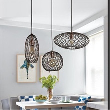 Edison Loft Style Industrial Vintage Droplight Iron Single Head LED Pendant Light Fixtures Retro Hanging Lamp Home Lighting цена