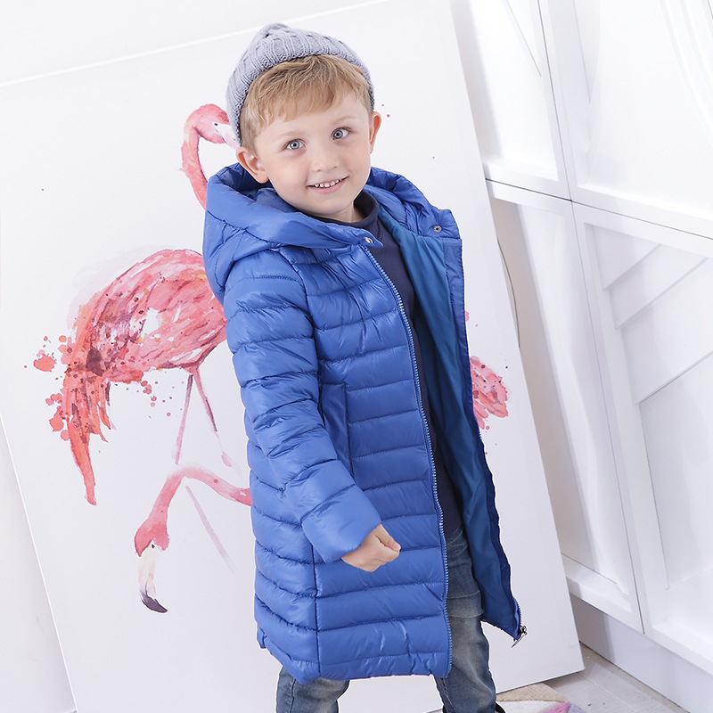 69cda7859 Children winter warm jackets Fashion hooded long down snowsuit for ...