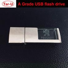 Креативный бренд автомобиля кристалл 16 ГБ USB флэш-накопитель высокоскоростной Флэш-накопитель с 3D логотипом Выгравированной памяти