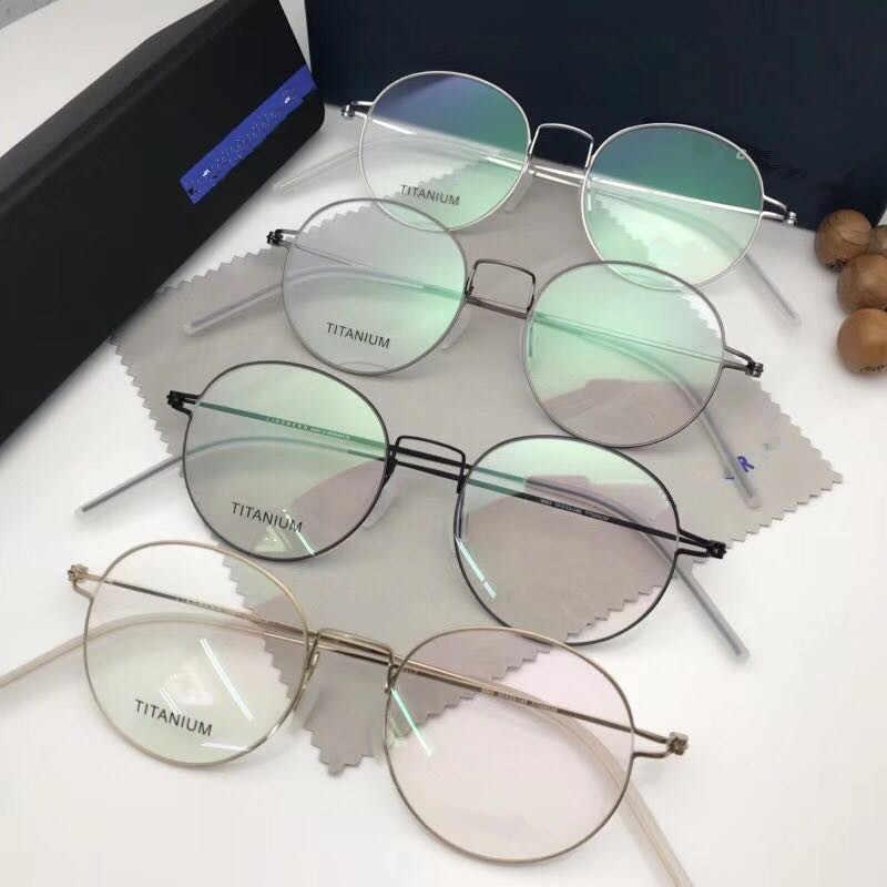 Retro Putaran Titanium Gas Frame Pria Nirsekrup Kacamata Miopia Optik Resep Kacamata Wanita Oculos Di Grau De