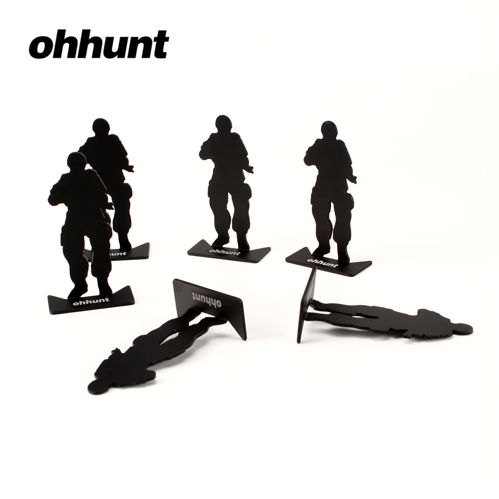 Ohhunt Tactical 6 PCs Shooting Metal Target Modle 80x44mm Black for Outdoor Hunting Camping Free Shipping