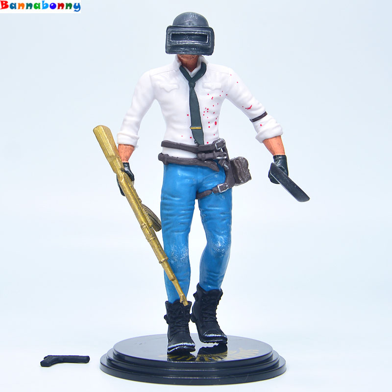 14CM Game Playerunknowns Battlegrounds PUBG Character Male Action Figure Collection Toys for Gift hot pc game player unknown s battlegrounds backpacks school bags pubg backpack gift for boyfriend game fans daily use nb197