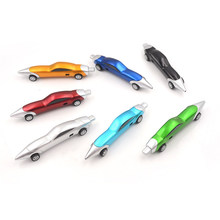 Car Shape Plastic Flexible Ballpen Best Gift For Children Children's writing interest practice toys 1pc(China)