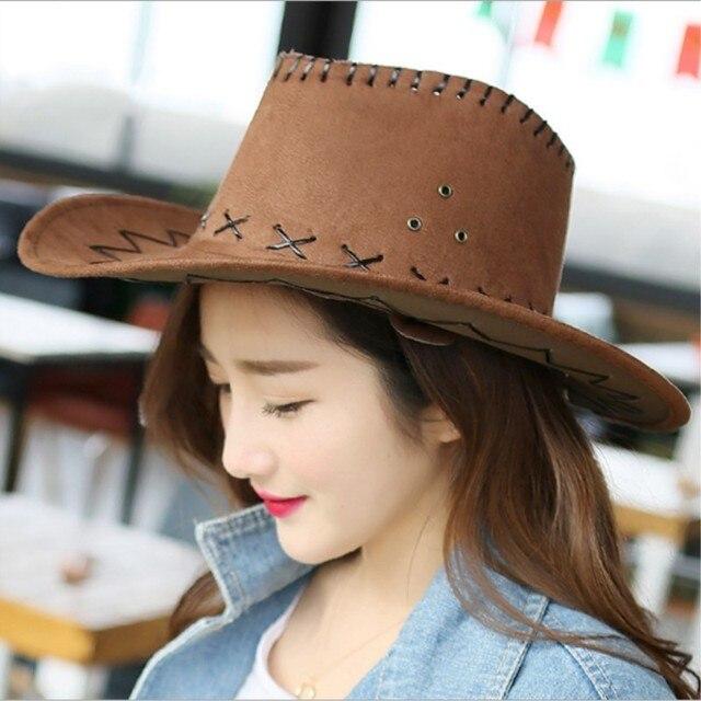 e16e0bbfff3 2018 NEW Retro Unisex Denim Wild West Cowboy Cowgirl Rodeo Fancy Dress  Accessory Hats Western cowboy hat
