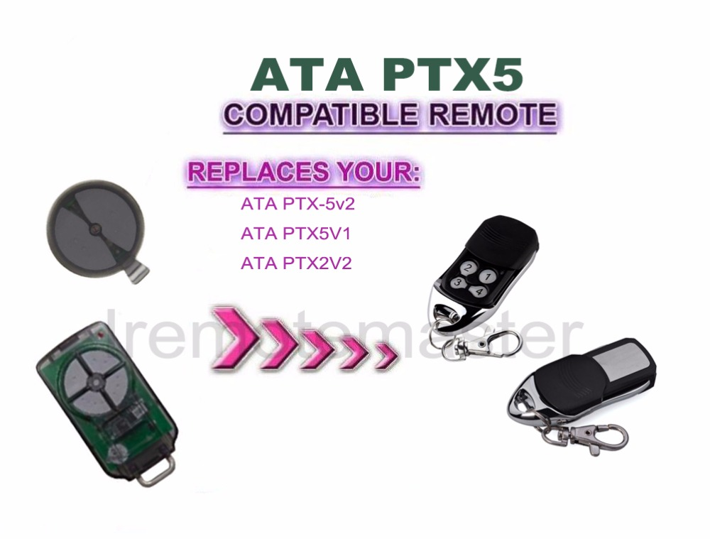 PTX-5v2 ATA Garage Door Replacement Remote Control TrioCode PTX5 V2 / PTX5 V1 потребительские товары peaceful taste call rj9 rj11 ptx 3180mrjt