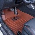 Esteiras do Assoalho do carro Cobre top grade anti-scratch resistente ao fogo à prova d' água durável 5D tapete de couro Do Carro para Toyota RAV4-Styling