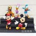 Disney Dibujos Animados de Mickey y Minnie, Donald Duck Figura PVC Juguetes Muñecas Grandes Regalos De Navidad 9-11 CM 5 Unids/lote Brinquedos Niños