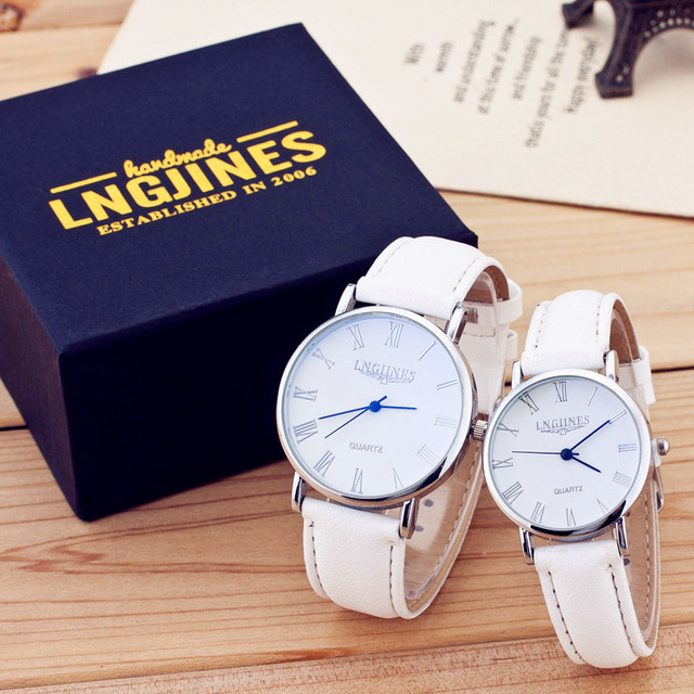 Presents for Men Watches Simple Elegant 12 Roman Numerals Black Waterproof Couple Watch Gifts for Men Clock Pareja Pair Watches