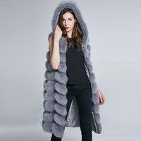 Пальто с мехом лисы зимняя Для женщин Шапки натуральный мех куртка в полоску из натуральной кожаные пальто перо теплый скидка Hat 2018 Новый