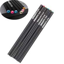 6pc New Crystal Black Pencil Pretty Standard Offering Private Gift Shining On Cheapest