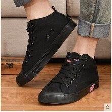 Hommes Toile Chaussures Casual Hommes Chaussures Plus La Taille Blanc Noir Bleu Hommes de Mode Formateur Chaussures Eur 35-43 A2887