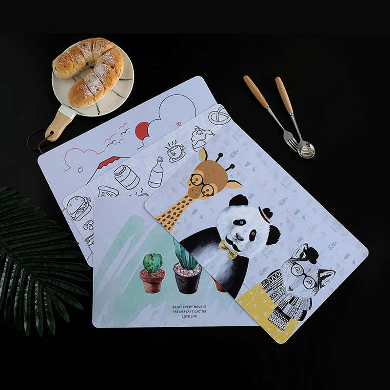 Home Decor Placemat 45*30cm Waterproof Table Mat Heatproof Pad Creative Placemat Kitchen Bowl Coffee Pot Pad Tableware Coasters