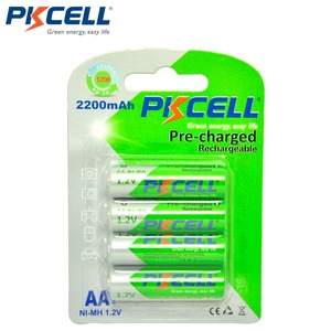 Image 1 - 4Pcs/card PKCELL AA Rechargeable Battery Ni MH 1.2V 2200mAh Low Self discharge Durable NIMH 2A AA Batteries for flashlight toys