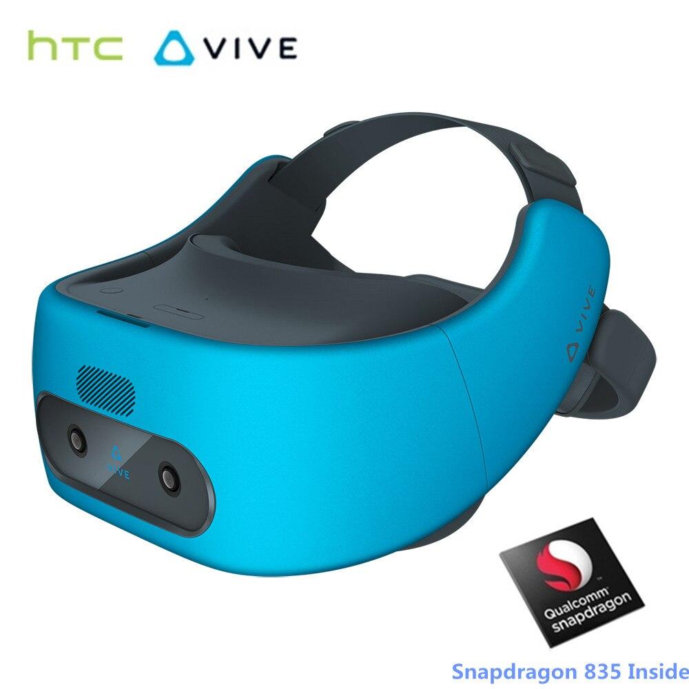Htc Vive фокус виртуальной реальности Гарнитура 3D VR очки Snapdragon 835 3 К AMOLED Экран 2 ТБ с контроллером Поддержка кино игры