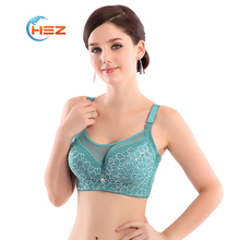 Fashion 5 color full cup large size bra floral women push up lace sexy underwear bras Free shiping