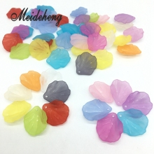 18x22mm Frosted transparent shell and Chinese cabbage Bride Hair Ornaments DIY Beads For Jewelry Design Collocation Material