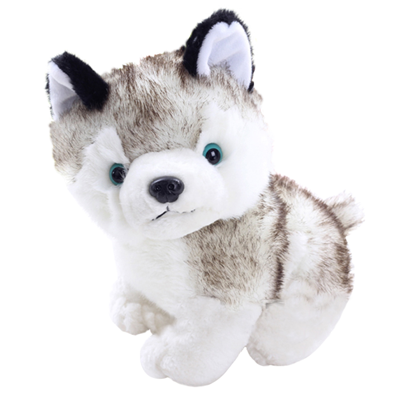 1pcs 16CM Simulation Husky Dog Plush Stuffed Toy Gift For Kids Stuffed Plush Toy Children's Love Doll Brinquedos stripes sweater design prone husky largest 165cm gray husky dog plush toy sleeping pillow surprised christmas gift h907
