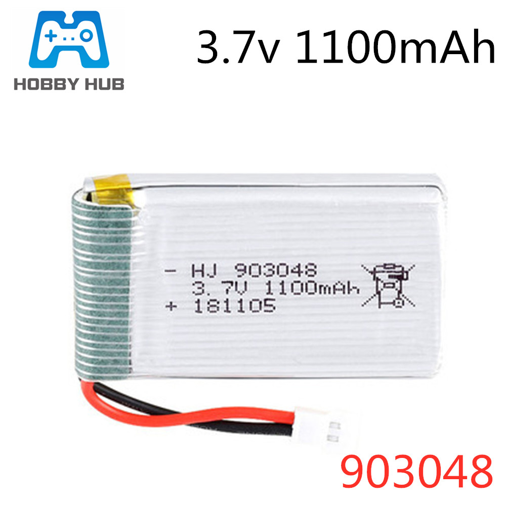 HOBBY HUB <font><b>3.7V</b></font> <font><b>1000mAh</b></font>/1100mAh/1200mAh <font><b>Lipo</b></font> <font><b>Battery</b></font> For H11D H11C Remote control helicopter Airplanes <font><b>batteries</b></font> <font><b>3.7v</b></font> 903048 image