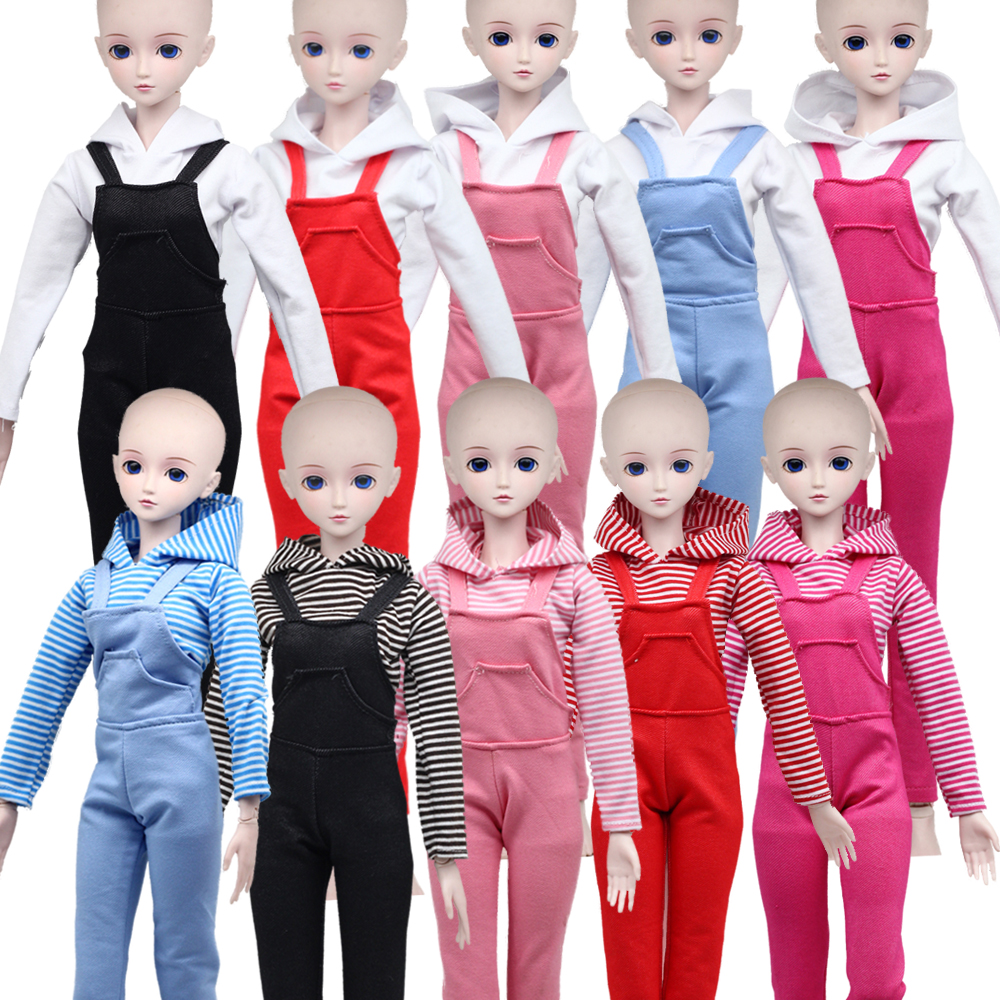 1 Set 60cm Dolls Accessories Clothes Shirt&Pants For 1/3 BJD Clothes Doll Toy Suit Multi Color Dress For Bjd Girls Toys