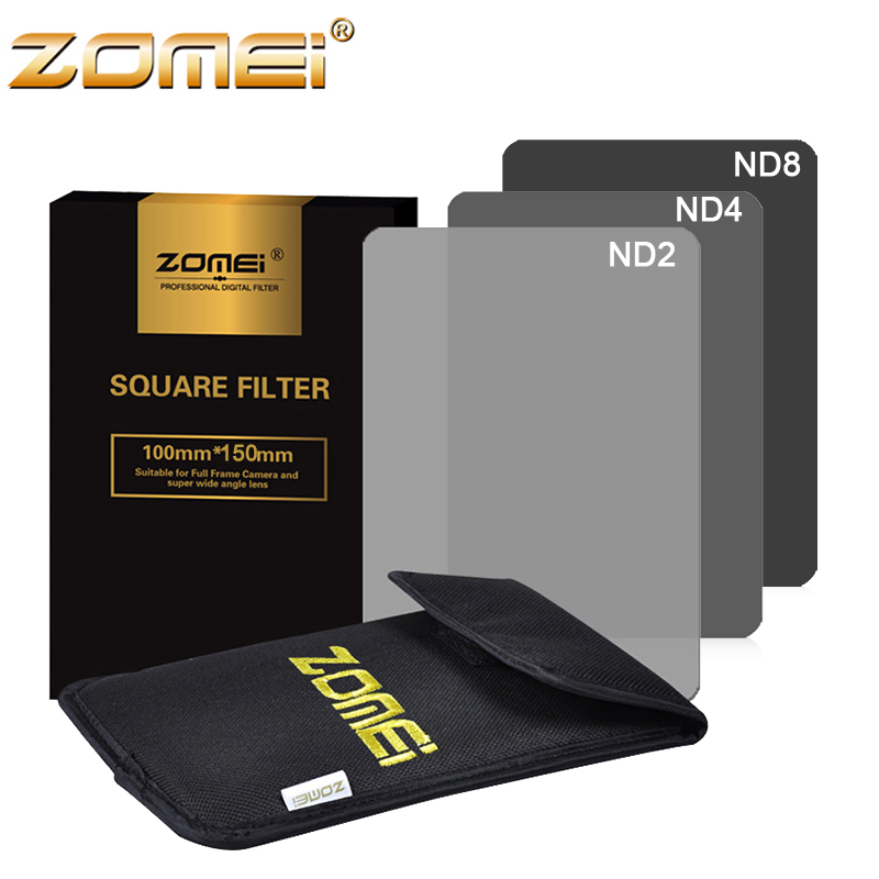 Zomei 3 in 1 Gradient Grey 100 150MM Square ND2 ND4 ND8 Optical Resin filter Neutral