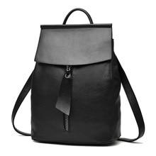 Woman Backpack Fashion 2017 Designers Spanish Brand School Bag Student Soild Backpacks Black Blue Bolso Mochila Mujer Pequeno