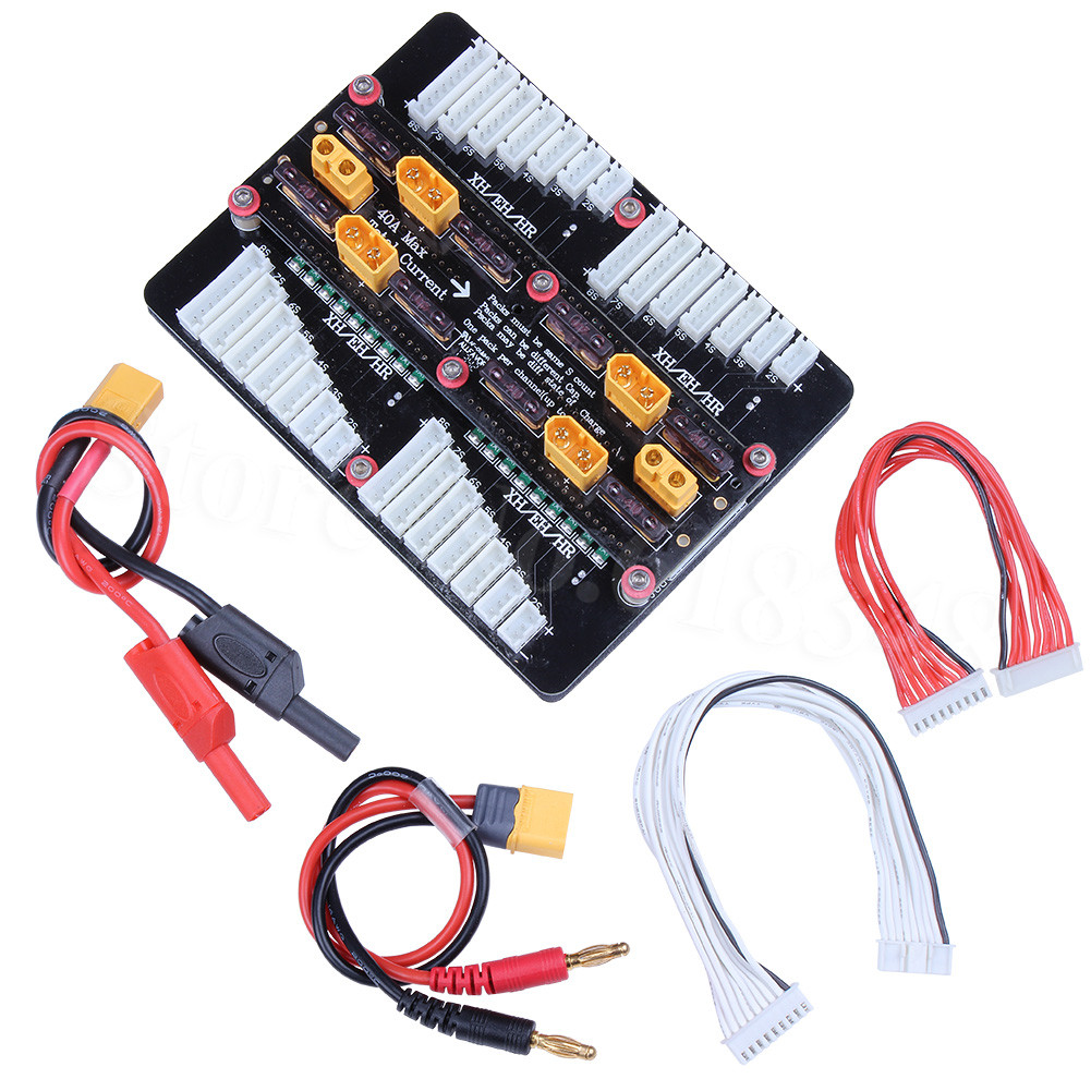 6in1 XT60 2 8S Lipo Battery Parallel Balanced Charging Board Plate for Imax B6AC PL6 PL8 720i Lithium Batteries Tools