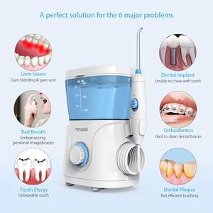 Image 4 - Homgeek Wasser Flosser irrigador Oral Irrigator Zähne Reiniger Pick Spa Zahn Care Clean Mit 7 Tipps Für Familie