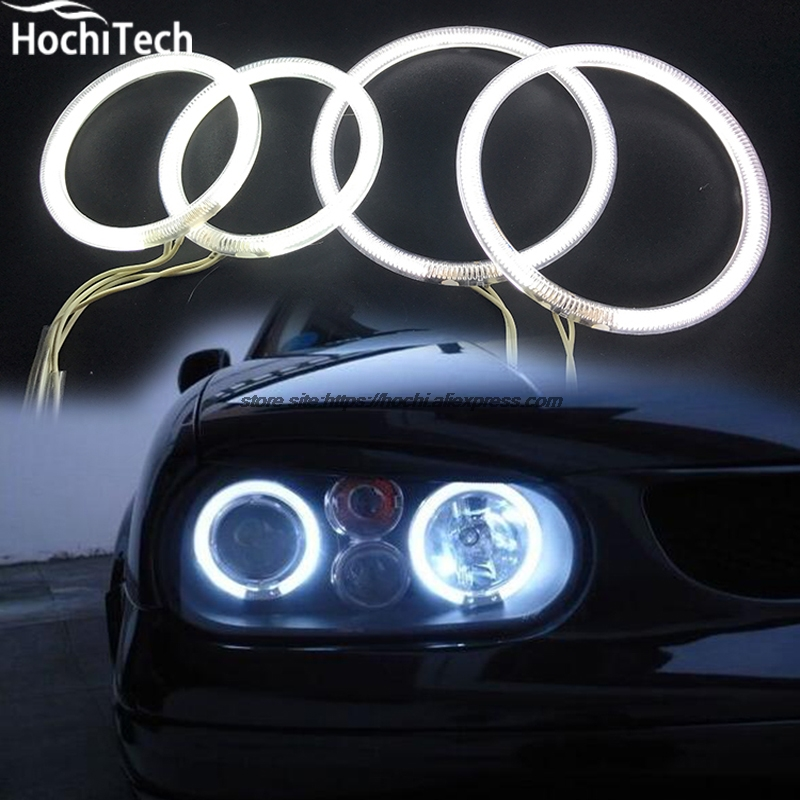 HochiTech WHITE 6000K CCFL Headlight Halo Angel Demon Eyes Kit angel eyes light For Volkswagen VW Golf Mk4 1998 to 2004 hochitech white 6000k ccfl headlight halo angel demon eyes kit angel eyes light for chevrolet epica magnus 2000 to 2005