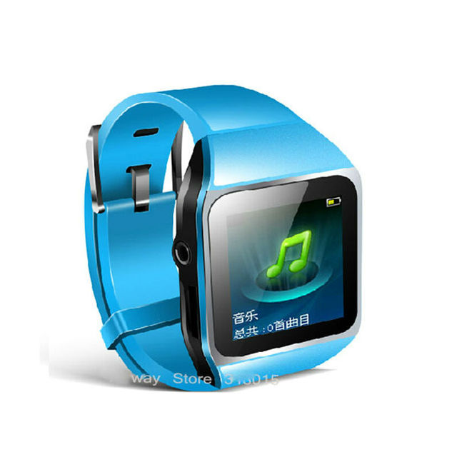 "2016 New 4GB Music MP4 Player with 1.5"" Touch Screen FM Pedo Meter World Clock Function 4G Bluetooth Smart Watch"