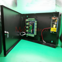 Intelligent Four Door Access Control Panel 12V Power Supply Metal Box Alarm Expansion Panel Tcp Ip