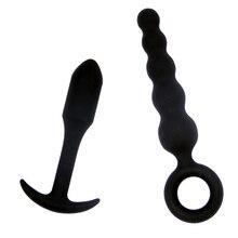 2pcs/set Anal Beads Plugs Butt Plugs Anal Plugs Dildo Vibrator Prostate Massage Anus Massager Ass Dilator Sex Toys For Women Man