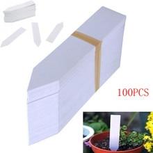 100 шт пластиковые этикетки для семян растений, маркер для горшка, садовые этикетки 10 см х 2 см#0501