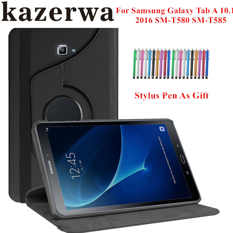 c09466c7d0e8a 360 Rotating Smart Case for Samsung Galaxy Tab A 10.1 2016 SM-T580 SM-T585  Stand ...