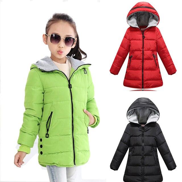 Kinderkleding Winterjas.Winterjas Voor Meisjes Warm Down Kids Winterjas Ban Kleur Baby Parka