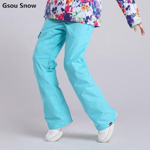 купить Gsou Snow ski pants women Wind proof and comfortable A variety of color choices недорого