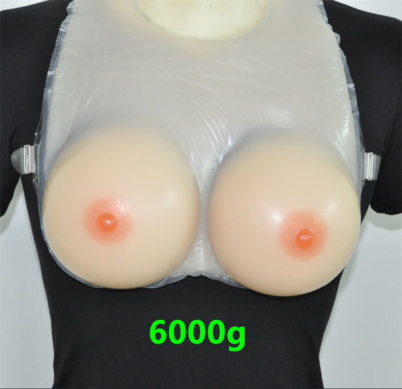 Buy 6000g Beige Color False Chest Cross-dressing Cd Dressing Conjoined  Crossdresser Breast Silicone Transexual Latex Breasts