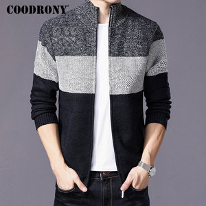 Image 2 - COODRONY Cashmere Wool Sweater Coat With Cotton Liner Zipper Coats Sweater Men Clothes 2018 Winter Thick Warm Cardigan Men H003
