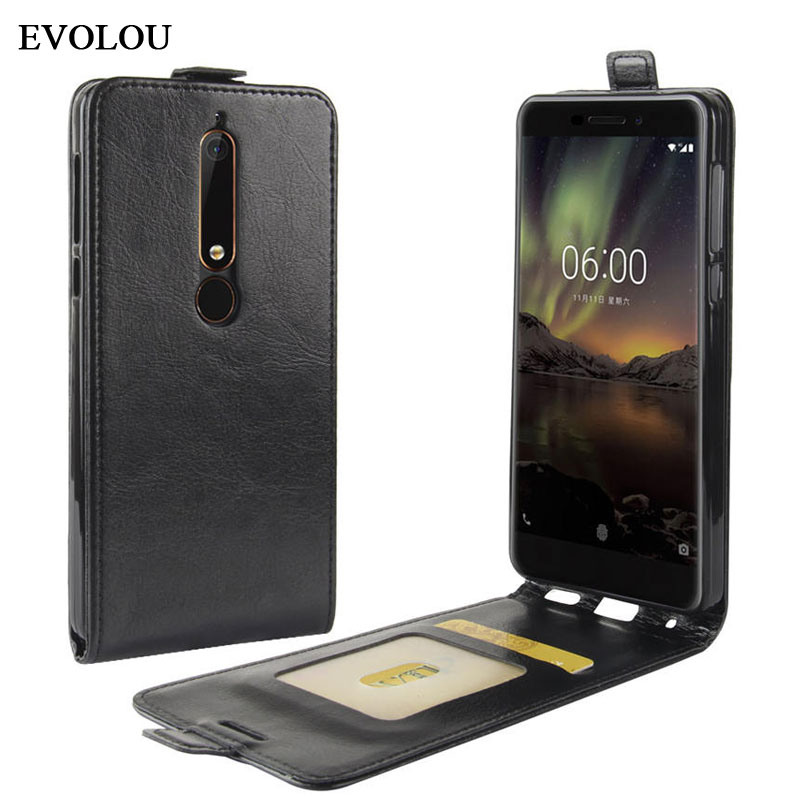 Vertical <font><b>Flip</b></font> Cover for <font><b>Nokia</b></font> 6 2018 5.1 3.1 2.1 <font><b>Case</b></font> Up Down <font><b>Leather</b></font> <font><b>Case</b></font> for <font><b>Nokia</b></font> <font><b>6.1</b></font> 6.2 3.1 5.1 2018 Phone Bag Cover Skin image