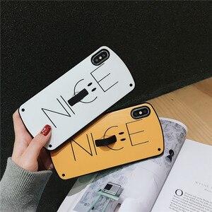 Милый простой чехол smile для iPhone 11 pro max 7 8 6s Plus iphone XS MAX XR силиконовые чехлы для телефонов с кольцом, Роскошный чехол для телефона с подставкой