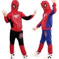 Novo Spiderman Meninos Do Bebê Conjuntos de Roupas de Algodão Terno Do Esporte Para Meninos Roupas Trajes Cosplay Homem Aranha Primavera Roupa Dos Miúdos Definir