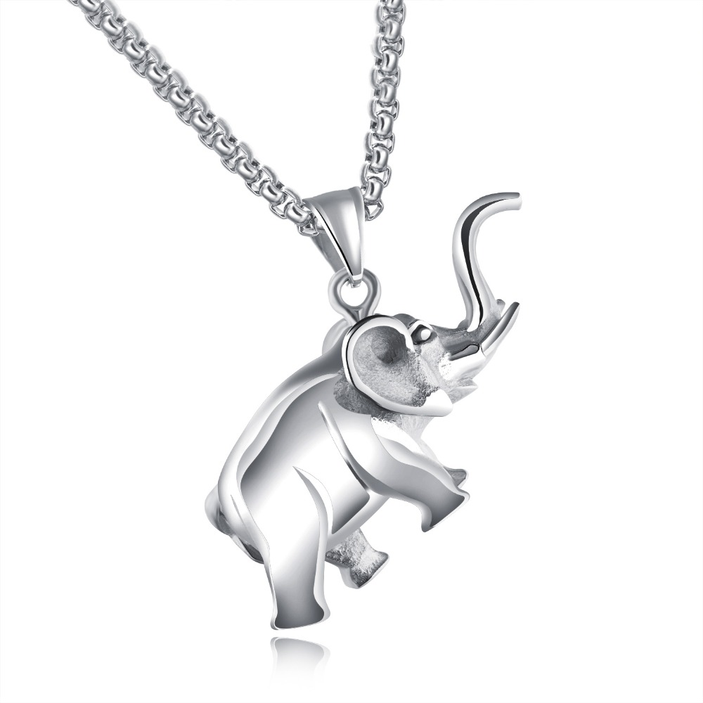 New arrival stainless steel elephant necklace women black gold color new arrival stainless steel elephant necklace women black gold color animal pendants 24 long chain men fashon african jewelry in pendant necklaces from aloadofball Choice Image