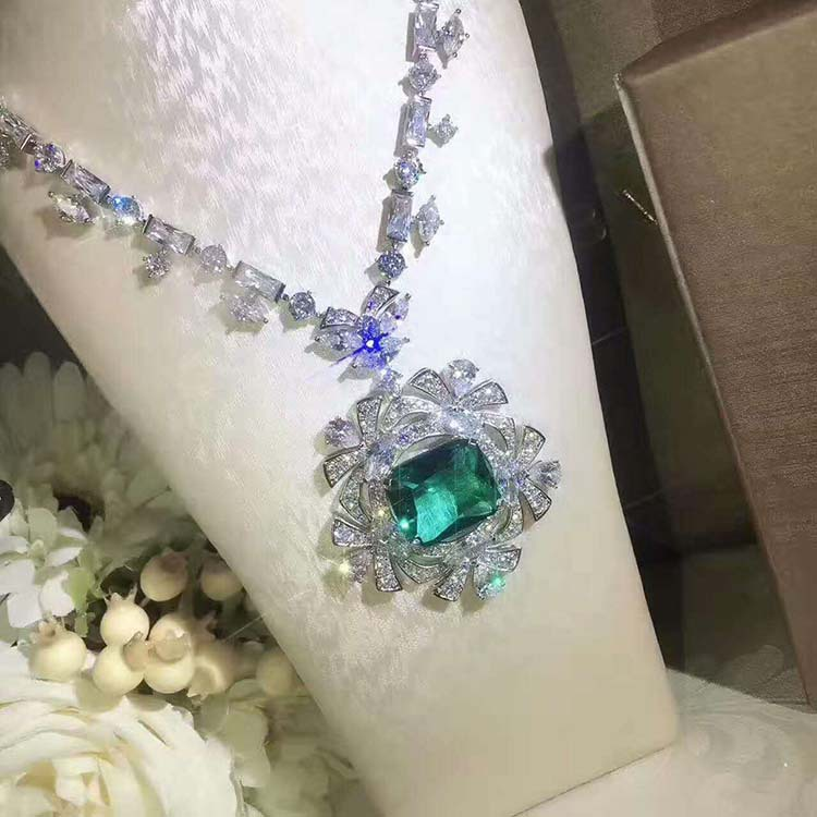 2018 bijoux de mode femmes accessoires de luxe strass modèle Unique collier 925 colliers en argent pour les femmes