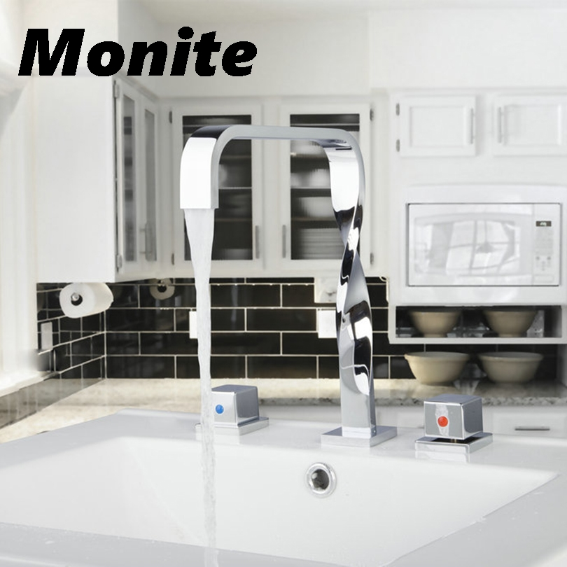 Bathroom Bathtub Waterfall Roman Tub Filler Faucet with Handshower Chrome 55d Double Handles 3pcs Faucets,Mixers & Taps электронный манок егерь 55d green