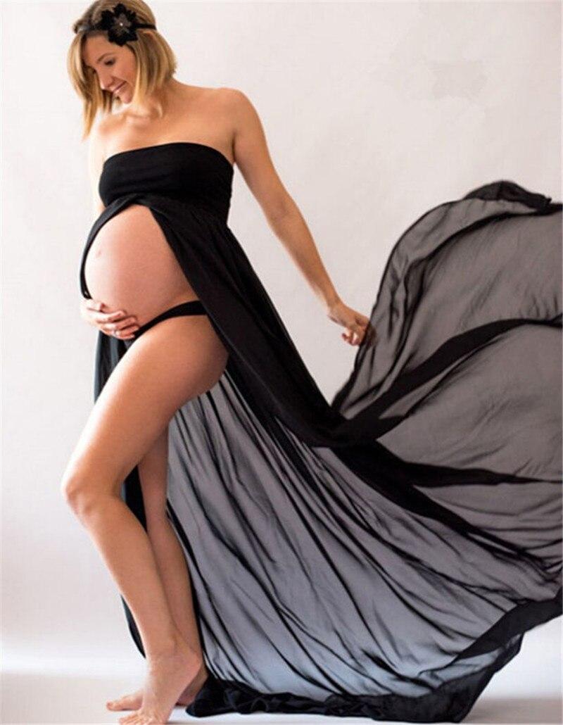 Summer-Pregnant-Women-Photography-Props-Dresses-Off-Shoulder-Dress-Shoulderless-Maternity-Clothings(6)