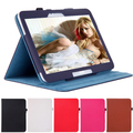 Cover For Samsung Galaxy Tab3 10.1 3200 Folio Stand Leather Tab 3 Case with Card Slots Handstrap Tablet Armor Accessaries Shell