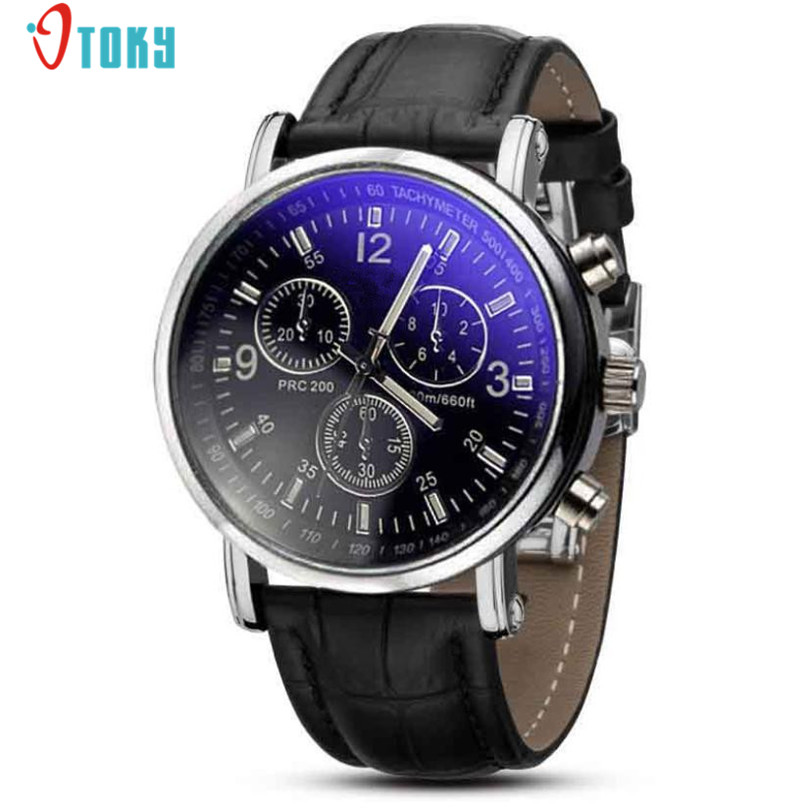 Mens Roman Numerals Blue Ray Glass Watches Luxury Brand Leather Quartz Business Wrist Watch Men's Clock Relogio Masculino forsining automatic tourbillon men watch roman numerals with diamonds mechanical watches relogio automatico masculino mens clock