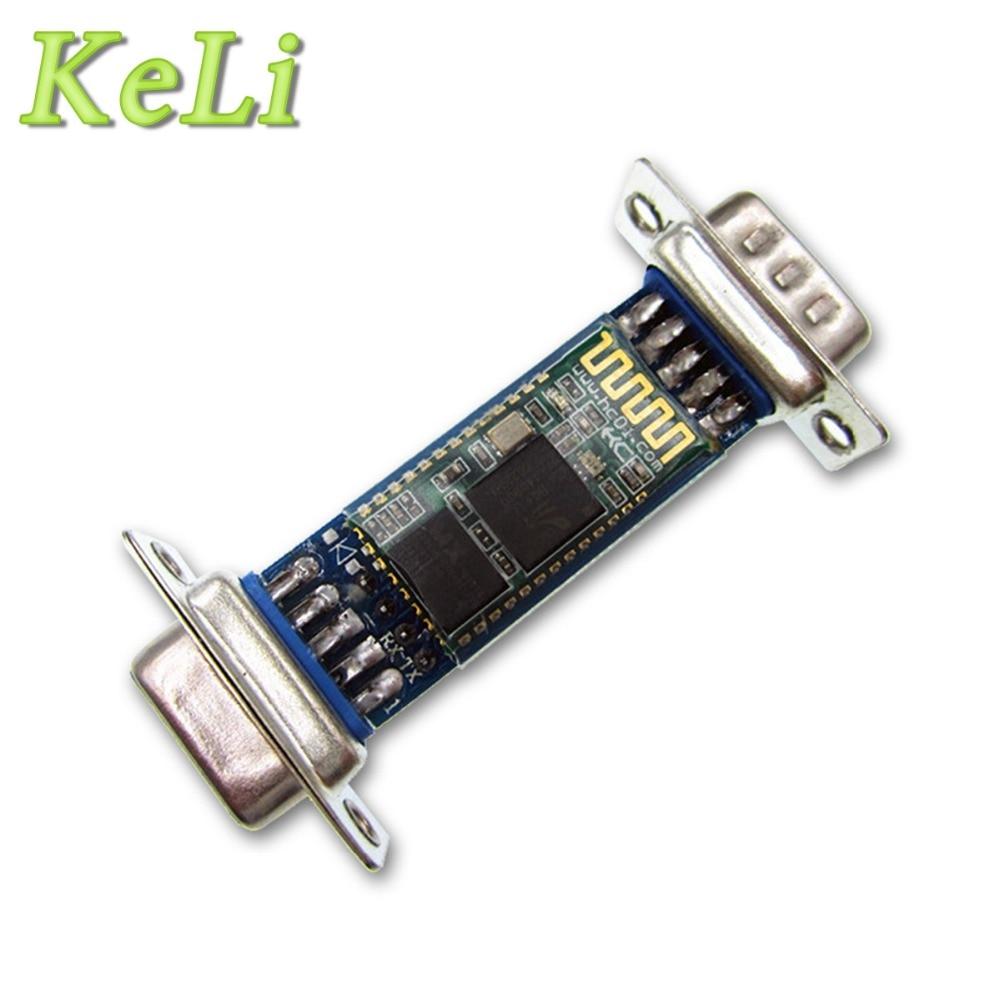 10pcs/lot DB9 Interface RS232 <font><b>Bluetooth</b></font> Through Module Wireless Serial Ports <font><b>HC06</b></font> Slave Male-Female