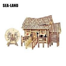 Kids Toy Of 3D Wooden Puzzle For Children And Adult The Lumberjack Hut Quality Montessori Educationaly Diy As A Family Gift