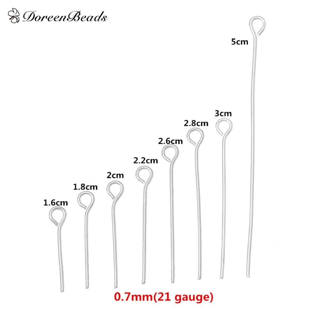 doreenbeads 800 pcs gauge mixed 2cm 3cm 5cm silver color. Black Bedroom Furniture Sets. Home Design Ideas